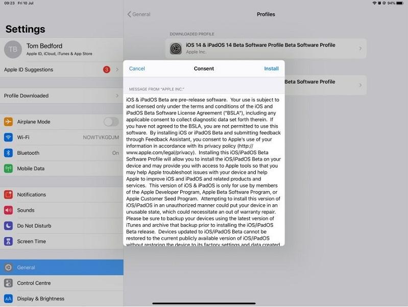 33xam48oGxDBQQtEQ4 - Как установить бета-версию iPadOS 14 на свой iPad