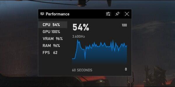 game bar performance1 600x300 - На компьютерах с Windows 10 по умолчанию включен «Игровой режим». Зачем он нужен?