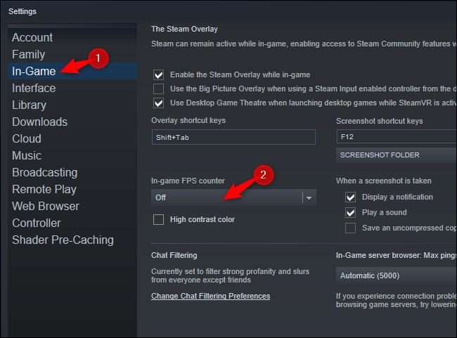 steam in game fps counter option1 - Как отобразить встроенный счетчик FPS Steam в компьютерных играх