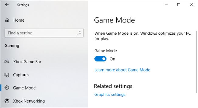 windows 10 game mode settings1 - На компьютерах с Windows 10 по умолчанию включен «Игровой режим». Зачем он нужен?