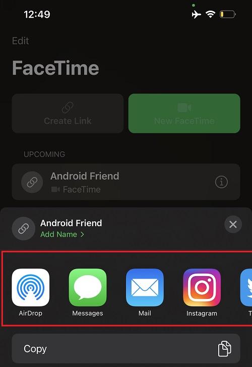 Andrid1 - Как пригласить пользователей Android и Windows на звонок FaceTime на iOS 15